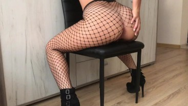 Sis Loves HUGE COCK in her Tight ASS - Fishnet ANAL HD - Adventurescouple
