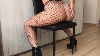 Sis Loves HUGE COCK in her Tight ASS - Fishnet ANAL HD wonder woman blowjob