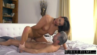 Home se surprises boss her at nubilefilms naughty assistant cowgirl sensual