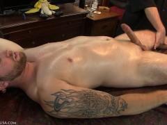 Diezel's entire body trembled from digital stimulation