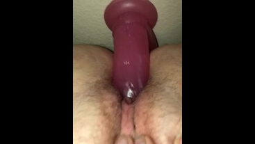 Self pussy fuck with dildo