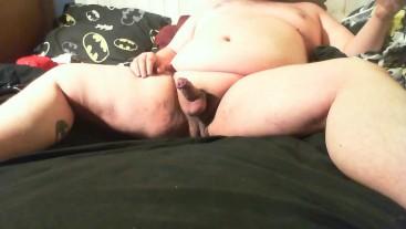 Fat Hot Uncut Smooth Chub Jacks off
