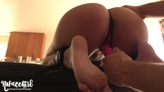 Petite Teen Gets Her Perfect Ass Whipped and Spanked - Amateur NoFaceGirl Roommate young