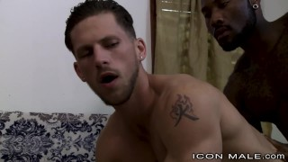 Dick straight iconmale fucks boyfriend hunk black his sisters tattoo sucking