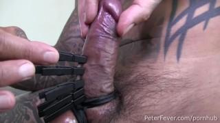 Kinky Damian's Clothespin and Handcuff Hookup with Vanilla Gaysian Shen