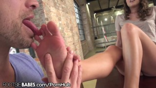 FootsieBabes Amirah Adara Drilled as Feet Worshiped and Licked