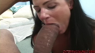 India Summer cannot wait to get her lips around Zilla's big black cock Hair tight