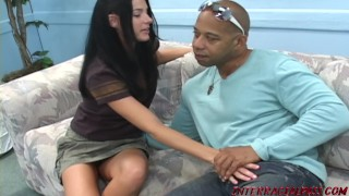 India Summer cannot wait to get her lips around Zilla's big black cock Rough at