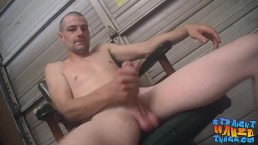 Skinny amateur works hard on his sweet straight cock