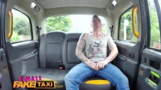 During rough fucking cock blonde passengers hot fake breaks female taxi job licking