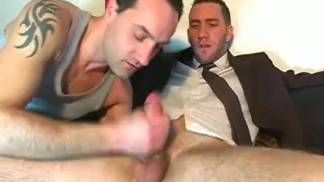 French free gay porn - French salesman gets sucked in a porn in spite orf him.