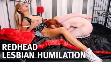 Cute Redhead Lesbian Humiliation Spanking Fucking Femdom