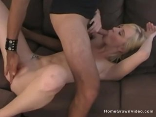 Bent over thong fucking skinny blonde amateur fucked and creampied by a big dick, homegrownvideo amateur homemade blonde skinny petite