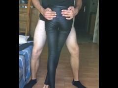Leather Leggings Thigh Job