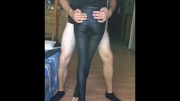 Leather Leggings Thigh Job
