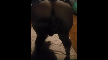 Lonely PAWG plays on huge suction cup dildo