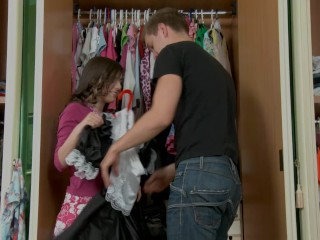 Helping Her To Choose And Outfit!