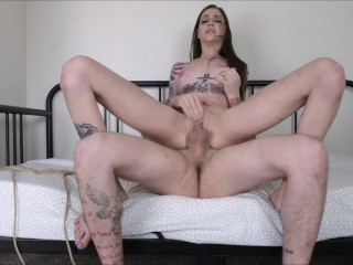 Odor fetish domme curvy tgirl doggystyle assfucked on all fours trans500 trans ts babe