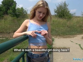 Hung bf video com public agent horny blondes tight body fucked for cash in forest, publicagent petite public outside point of view thoms