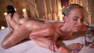 Massage Rooms Anya Krey rubbed down by big tits blonde Nathaly Cherie porno