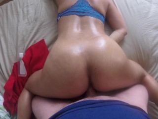 CHEATING ASIAN WIFE, POV BIG BOOTY ,CUMMING & BOUNCING ON BIG MY WHITE COCK
