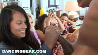 DANCING BEAR - This Bachelorette Loft Party Is Off The Muthafuckin' Chain! Cocksucking oral