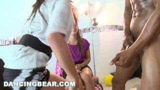 DANCING BEAR - This Bachelorette Loft Party Is Off The Muthafuckin' Chain! Doggystyle impregnated
