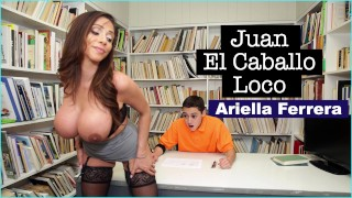 BANGBROS - MILF Teacher Ariella Ferrera Helps Young Juan El Caballo Loco Haired friend