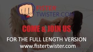 Black fist fisting lesbian big fuck prepares dildo blonde for erotic tattoo