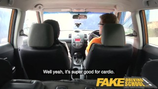 Fake Driving School Spunk covered pussy for busty British babe Alice Judge Compilation up