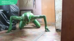 19 Years Old Green Demon / Body paint / Bodypaint / Naked Body Art #2