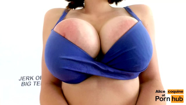 Wifes 40dd bra masturbate Joi - my tits bounce so hard my bra broke