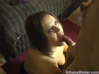 Sucking Cock and Smoking Fetish with Cumshot - ALHANA WINTER - Old Clip