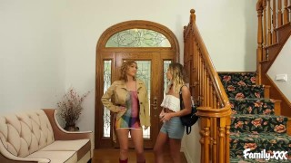 Step Mom Seduces Her Daughter And Gives Her Hot Lesbian Pointers In Bed Subspaceland blowjob