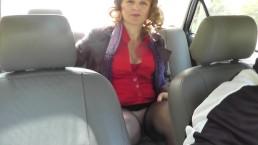 Milf. Taxi driver. Cabbie.  Strip Wet pussy swab tampax