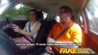 Fake Driving School Hot Italian nympho minx Valentina Bianco craves cock porno