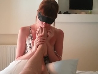 Amateur wet pussy masturbation feet licking, rimming and sucking dick РєРЃв•' cute shy girl makes blowjob, ass licking rimming amateur foot massage