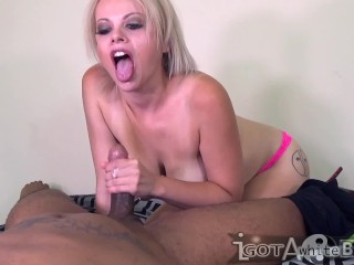 Nadia White swallows Don Whoe s Cock like a pro