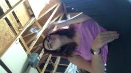 Hot Teen Smokin In Garage Prt3