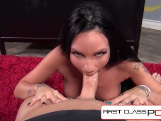 FirstClassPOV - Raven Bay Sucking principals monster Cock, big boobs