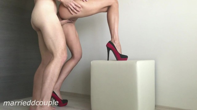 Like to fuck that ass Hot wife with sexy legs in high heels like to fuck