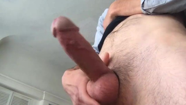 Cock ring stretch - Fat cock in cock ring explodes with cum