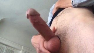 Fat Cock in Cock Ring Explodes with Cum