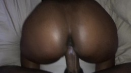 Ebony Girlfriend getting creamy backshots from big dick