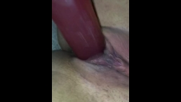 Teen Smashes Her Pussy With Dildo