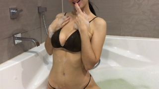 Hot girl takes a bath and masturbates - Mini Diva Hard busty