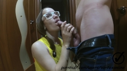 Blowjob in Pigtails, Glasses, Pikachu top