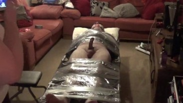 it's a wrap, bound and edged, faced timed with Male friends to share.
