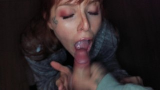 He cum to fast, I Swallow it. Public blowjob and anal at night Pussy ass