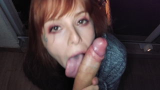 He cum to fast, I Swallow it. Public blowjob and anal at night Doggystyle teasing